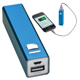 Power bank metalowy 2200 mAh PORT HOPE kolor niebieski