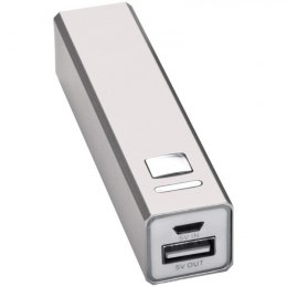 Power bank metalowy 2200 mAh PORT HOPE kolor szary